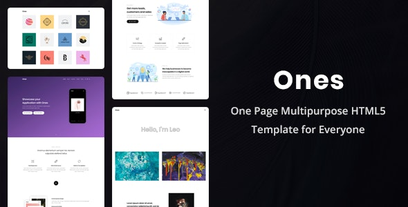 Ones - One Page Multipurpose HTML5 Template - Portfolio Creative
