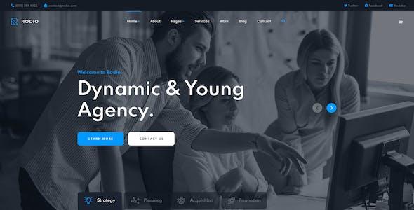 Rodio – Agency & Studio Adobe XD Template