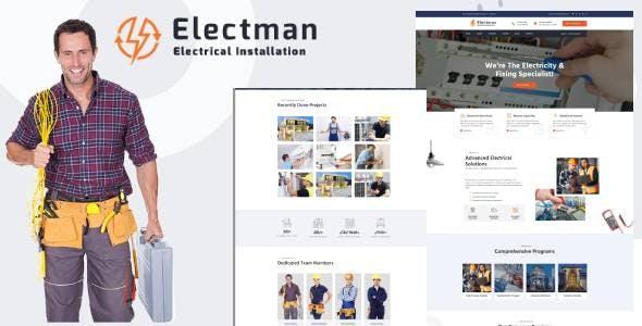 Electman- Electricity Services HubSpot Theme