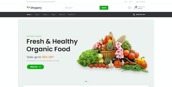 Shopery - Organic eCommerce Figma Template