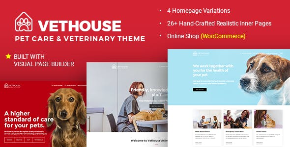 Vethouse - Pet Care & Veterinary Theme