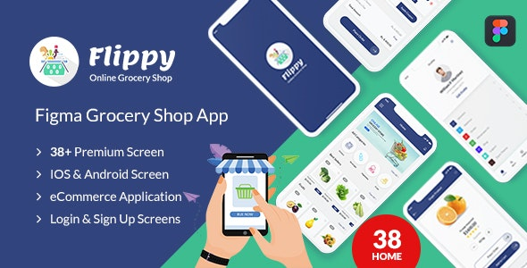 Flippy - figma grocery mobile application - Food Retail