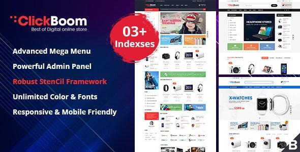 ClickBoom - Responsive StenCil BigCommerce Theme with Advanced Option - BigCommerce eCommerce