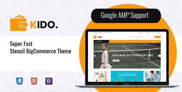 Kido - Creative Multipurpose  Stencil BigCommerce Bootstrap 4 Theme | Google AMP Ready