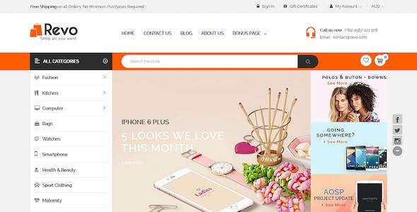 Revo - Multipurpose Stencil Responsive BigCommerce Theme & Google AMP Ready