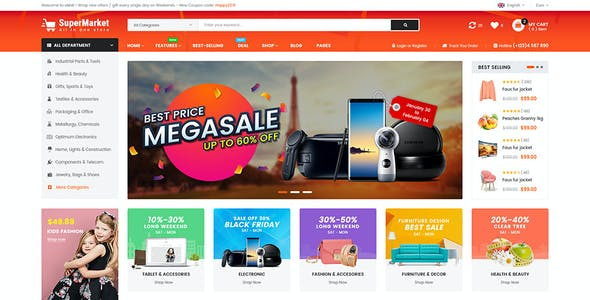 SuperMarket - Multipurpose Creative  BigCommerce Theme