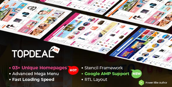 TopDeal - The Super Fast Multipurpose Stencil BigCommerce Theme