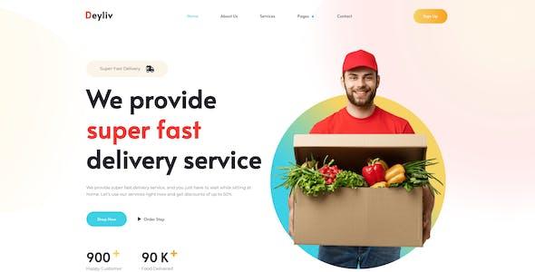 Deyliv - Food Delivery App Elementor Template Kit