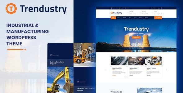 Trendustry - Industrial & Manufacturing WordPress Theme - Business Corporate