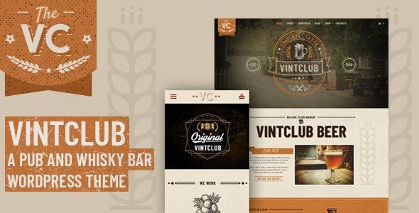VintClub - A Pub and Whisky Bar WordPress Theme - Food Retail