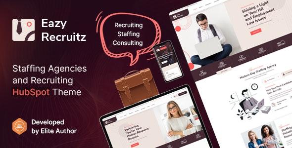 Eazy Recruitz - Staffing Agencies HubSpot Theme - Corporate HubSpot CMS