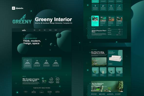 Greeny - Interior Elementor Template Kit - Creative & Design Elementor