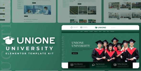 Unione - University Elementor Template Kit