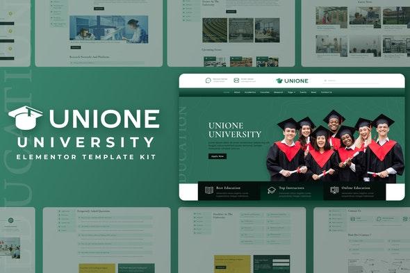 Unione - University Elementor Template Kit - Education Elementor