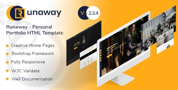 Runaway - Personal Portfolio Template - Portfolio Creative