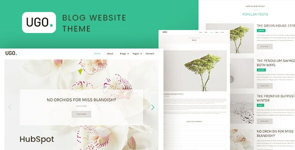 Ugo - Modern Blog HubSpot Theme - Blog / Magazine HubSpot CMS Hub