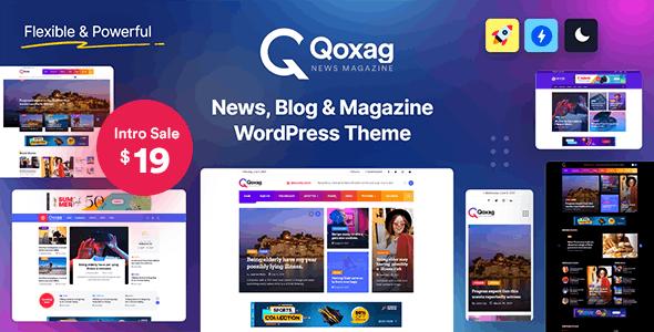 Qoxag - WordPress News Magazine Theme - News / Editorial Blog / Magazine