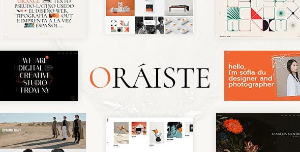 Oráiste - Creative Portfolio WordPress Theme - Portfolio Creative