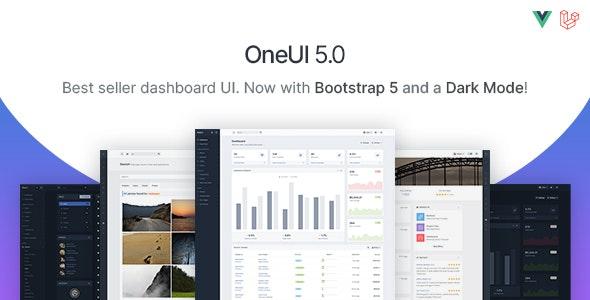 OneUI - Bootstrap 5 Admin Dashboard Template, Laravel 8 Starter Kit & Vue Edition - Admin Templates Site Templates
