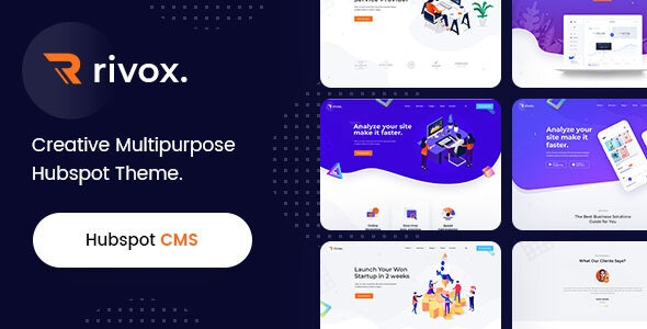 Rivox - Creative Multi-Purpose HubSpot Theme - Creative HubSpot CMS Hub