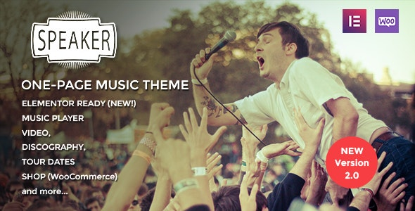 Speaker - One-Page Music Wordpress Theme - Music and Bands Entertainment