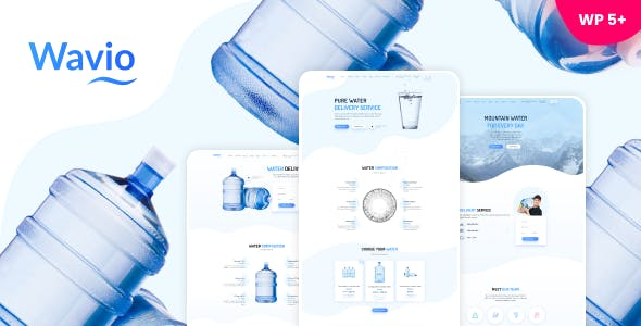 Wavio - Bottled Water Delivery WordPress Theme
