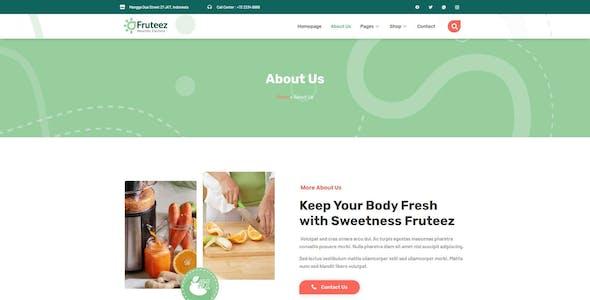 Fruteez - Healthy Food & Drinks Brand Elementor Template Kit