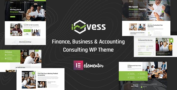 Invess - Accounting & Finance Consulting WordPress Theme