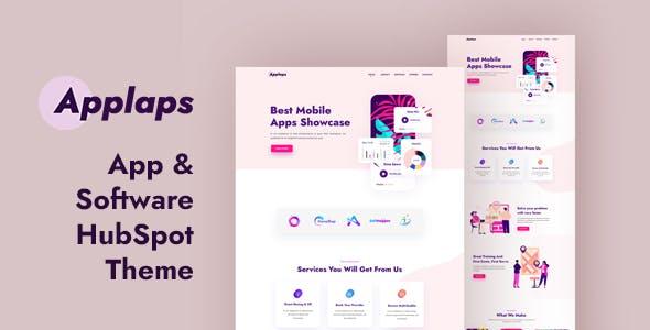 Applaps – App Software HubSpot theme