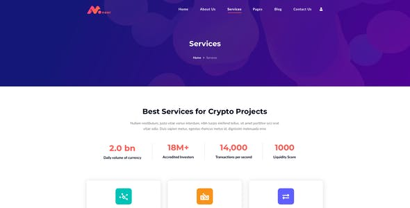 Moneer – Cryptocurrency Template for Sketch