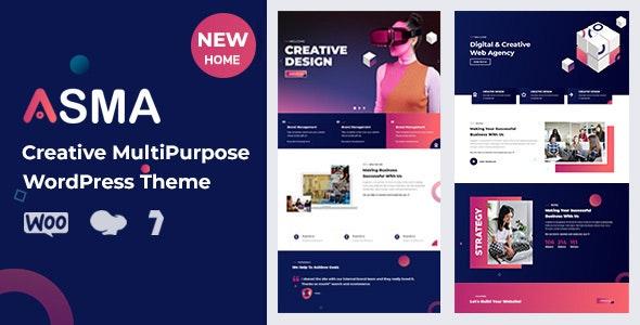 Asma - Creative Agency WordPress Theme - Creative WordPress