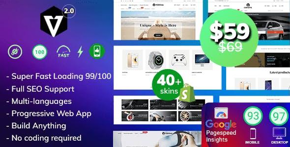 Vodoma - Fastest Multipurpose Shopify Theme