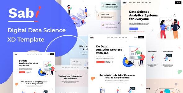 Sabi - Creative Data Science XD Template - Adobe XD UI Templates