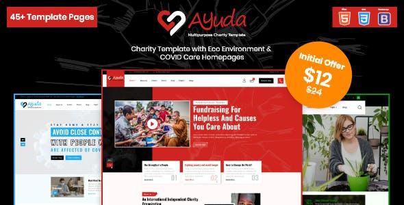 Ayuda | Multipurpose Charity HTML Template