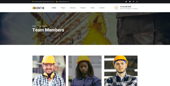 Kontin - Industrial & Factory Business PSD Template