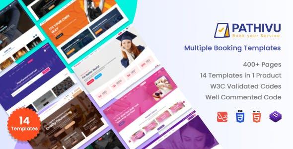 Pathivu - Booking Templates with spa saloon school sports (HTML + Laravel + React + Angular + Vuejs)