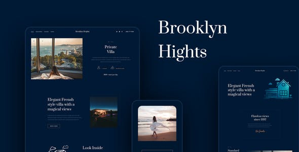 Brooklyn Heights - Private Villa & Hotel Elementor Template Kit