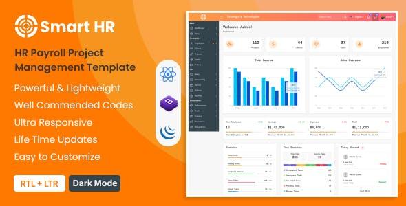 SmartHR - HR, Payroll, Project & Employee Management React Admin Dashboard Template (ReactJS)