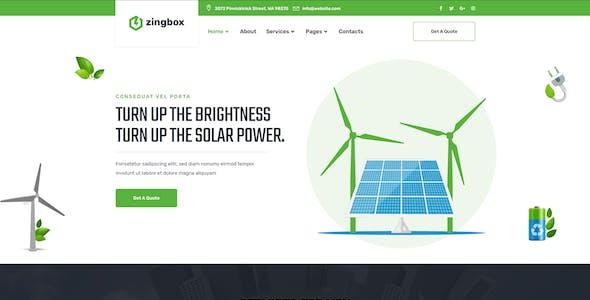 Zingbox – Wind & Solar Energy Elementor Template Kit