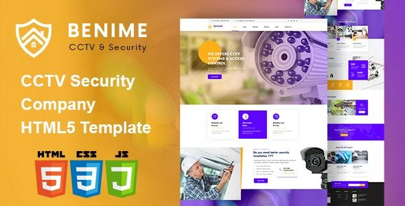 Benime - CCTV Surveillance Service HTML5 Template - Business Corporate