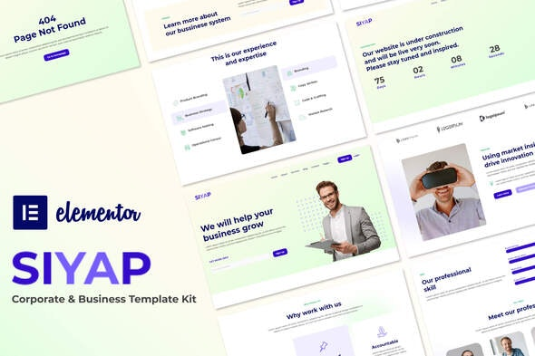 Siyap - Corporate & Business Elementor Template Kit - Business & Services Elementor