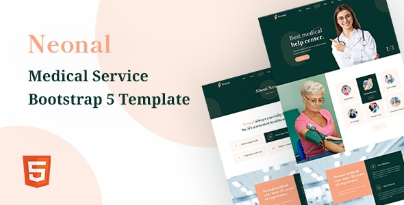 Neonal - Medical Service Bootstrap 5 Template - Health & Beauty Retail