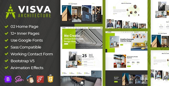 Visva - Architect & Interior Design Bootstrap 5 Template - Creative Site Templates