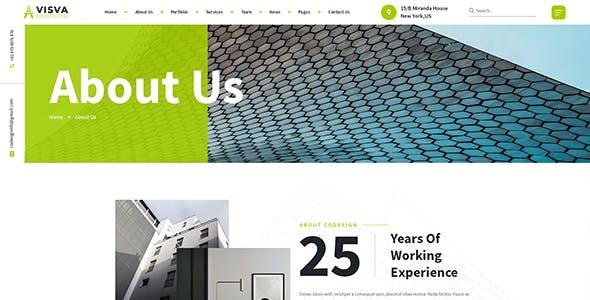 Visva - Architect & Interior Design Bootstrap 5 Template