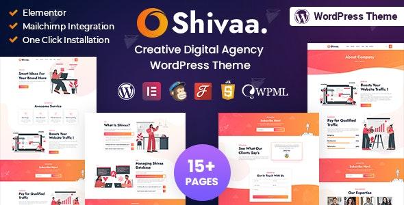 Shivaa - Multipurpose Agency Business WordPress Theme - Creative WordPress