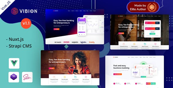 Vibion - Vue Strapi Online Banking & Payment Template