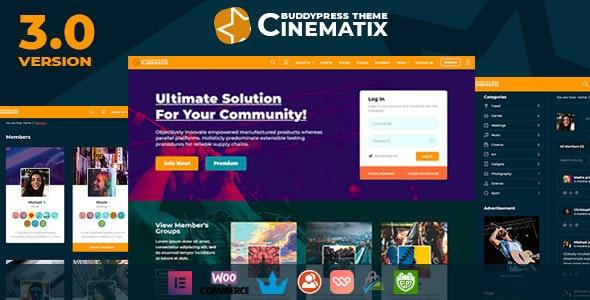 Cinematix - BuddyPress Nouveau Membership Theme - BuddyPress WordPress