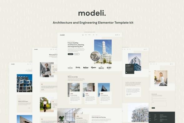 Modeli - Architecture & Engineering Elementor Template kit - Real Estate & Construction Elementor