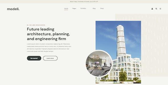 Modeli - Architecture & Engineering Elementor Template kit