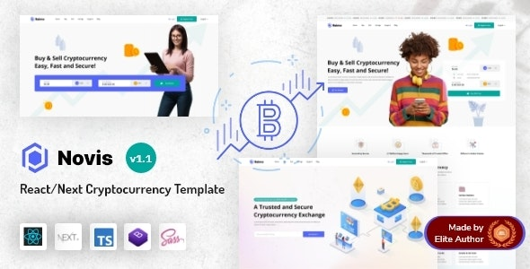 Novis - React Next.js Cryptocurrency Template - Business Corporate